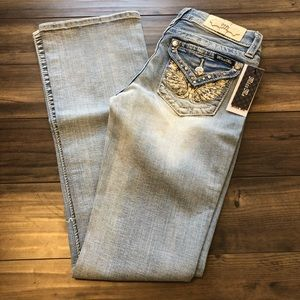 NWT Miss Me Angel Wings Bootcut Size 31 M3080B6